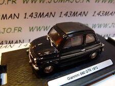 Voiture 1/43 BRUMM Déagostini : FIAT 500 Giannini 590 GTR 1972