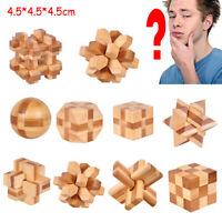 les enfants kong ming lock jeu éducatif jouet qi enigme cube puzzle en bois