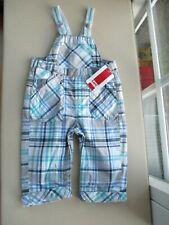 Kanz Jungen Baby Latzhose Blau karriert Latz Hose Trägerhose 68 NEU mit Etikett