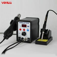 YiHUA 8786D 2in1 110V SMD ESD Rework Station Soldering Iron Hot Air Gun Desolder