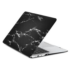 """Black Marble Rubberized Hard Case for MacBook Air 11"""" Model: A1370 and A1465"""