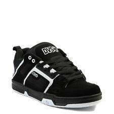 Mens DVS Comanche Skateboarding Shoes NIB Black White Leather