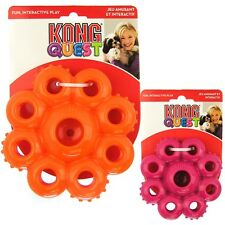KONG Quest Star Pods Flexible Rubber Dog Chew Treat Puzzle Toy Small PE 33