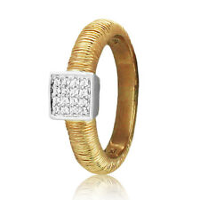 Cocktail Designer Ring Two-Tone Item# Scr-1005M .10ct Cz & 9k Solid-Gold Fashion