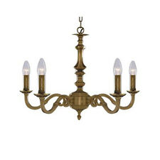 Searchlight 1075-5ng MALAGA Antique Brass 5 Lamp Chandelier
