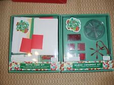 Christmas Craft Kits Beaded Ornaments & Note Cards Target 2003 NEW