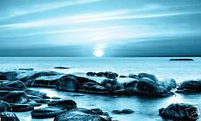 SEASCAPE CANVAS ART PRINT BLUE SEA WALL ART PICTURE