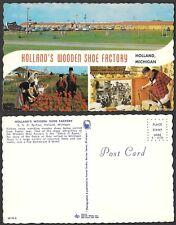 Old Michigan Postcard - Holland - Shoe Factory