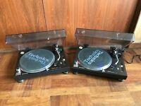 Pair Technics SL-1200MK6 black color DJ Turntable w/ SHURE cartridge