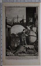 1788 ORIGINAL FRONTISPIECE CYCLOPEDIA ENCYCLOPEDIA