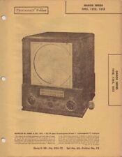 1949 GAROD 10TZ TELEVISION SERVICE MANUAL PHOTOFACT SCHEMATIC 12TZ 15TZ REPAIR