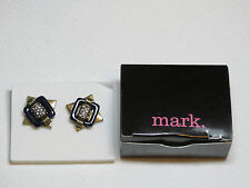 Ladies Womens Avon Deco Drama Studs Earrings antique brass F3703381 NIP;;