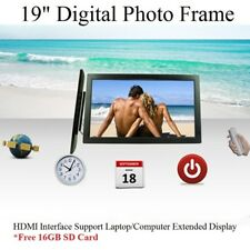 "New 19"" LED HD 1080P Digital Photo Frame Free 16GB SDcard Remote Picture Album"