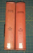 1951 Jan - Dec  Progressive Architecture Magazine 12 Issues Bound  Volume 32