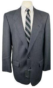 New Jones New York Mens 42L Gray Bird's Eye Blazer Sport Coat Suit Jacket