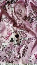Glitter Skull Bow Skeleton Pink Toddler Dress Size 2T