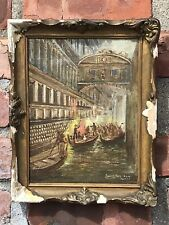 Scottish Royal Society Artist James Kay Painting. Bridge Of Sighs Venice. Signed