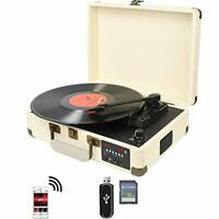 DIGITNOW! Bluetooth Record Player Belt-Drive 3-Speed Turntable Built-in Stereo
