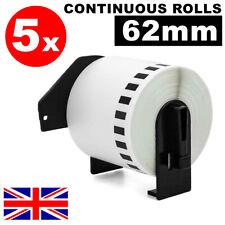5x 62mm Label Rolls fits Brother QL-560 QL-570 Printer Roll+Spool for DK22205