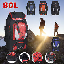 80L Large Waterproof Backpack Rucksack Bag Luggage Outdoor Camping Hiking Travel