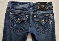 Miss Me Skinny Fit Womens Denim Blue Jeans Size 25 x 32 Slim Med Wash Low Rise