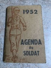 National Service Book Diary 1950s French 1952 13th Bataillon Genie Guy Langrand