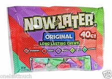 NOW AND LATER^ 6.5oz Bag ORIGINAL Long Lasting Chews LMT EDITION Candy Exp. 7/19