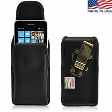 Turtleback Nokia Lumia 635 Vertical Leather Pouch Holster Case, Metal Belt Clip