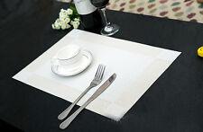 Tischset Platzset Platzmatte Tischmatte Platz Decke PVC Platzdeckchen Matte Weiß