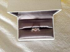 carat london trilogy engagement ring Pink , White & Yellow Gold