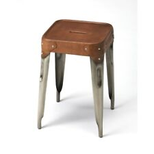 Butler Connor Iron & Leather Counter Stool, Multi-Color - 3964344