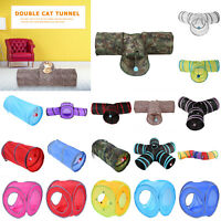 3/5 Holes Pet Cat Tunnel Tubes Outdoor Foldable Rabbit Training Funny Games Toy