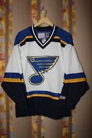 RARE NHL St LOUIS BLUES CCM HOCKEY JERSEY SHIRT SIZE S VINTAGE