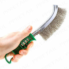 """10"""" Curved Stainless Steel Wire Hand Brush DIY Metal Cleaner Scourer Rust Paint"""