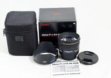 CANON Sigma DG 50mm 1:1.4 HSM DG EX ASP Lens t3i t4i t5i t6i t7i 60D 70D 80D 7D