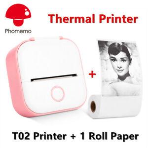 Phomemo Wireless T02 Mini Pocket Bluetooth Thermal Printer Mobile Photo Printing