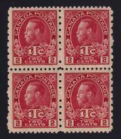 Canada Sc #MR5 (1916) 2c+1c Admiral War Tax Block Mint VF NH