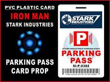 IRON MAN (Stark Industries) PARKING PASS ID CARD Prop - PVC PLASTIC CARD / BADGE
