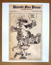 1968 Detroit Tigers World Series MVP Mickey Lolich comic strip