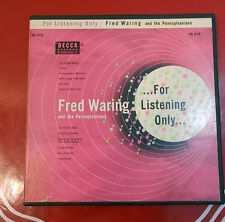 """Fred Waring & Pennsylvanians """"For Listening Only"""" Decca ED818 2-45RPM Ext.Play"""