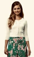 Review Sz 14 BNWT Bella Cream Cardigan with 3/4 Length Sleeves - Brand New