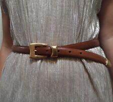 Womens Belt KENETH COLE NEW YORK skinny GENUINE LEATHER BELT M - 27 TO 31 brown