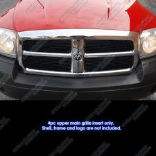 Fits 2005-2007 Dodge Dakota Black Main Upper Billet Grille Grill Insert