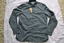 Burberry Brit 'Jonson' Trim Fit Flower Print Cotton Sport Shirt Size S Brand new