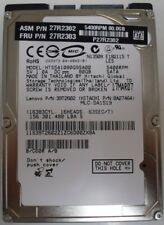 """Hitachi 80GB 5400rpm HTS541080G9SA00 DA1519 PN: 0A27464 SATA 2.5"""" Hard Drive"""