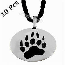 Wholesale 10Pcs Silver Bear Claw Paw Gay Pride Men Women Pendant Necklace WP#205