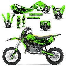 Decal Graphic Kit Kawasaki KLX110 KX65 KX Dirt Bike Suzuki RM65 DRZ110 REAP GRN