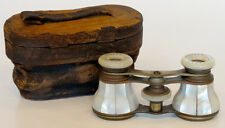 ANTIQUE Vintage 1800s JUMELLE Mother of Pearl VICTORIAN OPERA GLASSES Binoculars
