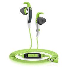Sennheiser Sports Earphones - Green Smartphone Remote Headphones Gym Running New