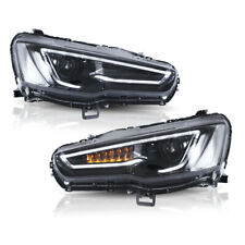 VLAND 2* LED Blackout Headlights Fit For Mitsubishi Lancer EVO X 2008-2018 Set